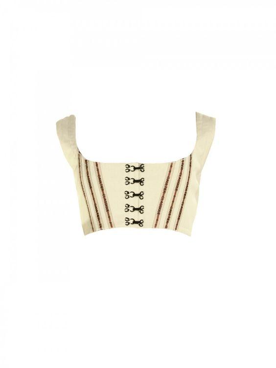 90s Jean Paul Gaultier Cropped Vest (http://www.cmadeleines.com/1990s-jean-paul-gaultier-cropped-vest/)
