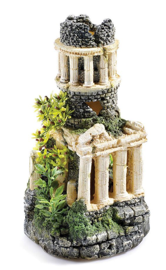 Details about roman tower ruins 60 litre biorb aquarium for Decoration aquarium 60 litres