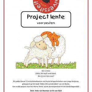 Peuterproject-Dikkie-Dik-lentekriebels Dit pakket bevat 12 activiteitenkaarten met korte kringactiviteiten voor jonge kinderen, gebaseerd op het boek 'Dikkie Dik Lentekriebels' van Jet Boeke. Een vrolijk project voor het thema 'lente' op de peuterspeelzaal en het kinderdagverblijf.