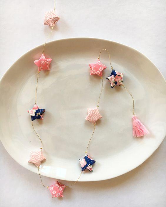 Guirlande étoiles - Origami