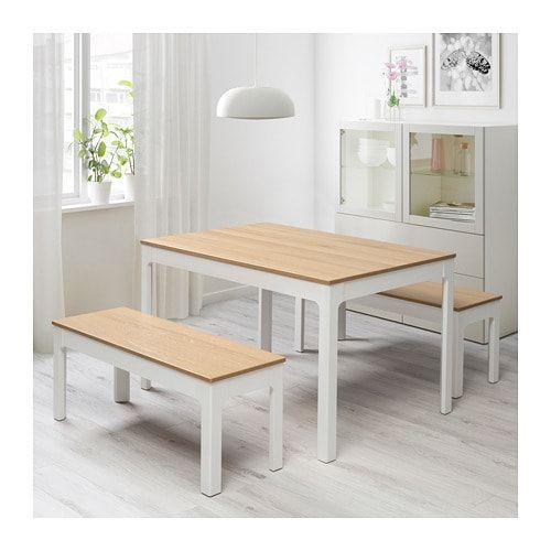 Tremendous Ekedalen Extendable Table Oak Veneer White Stained Ikea In Short Links Chair Design For Home Short Linksinfo