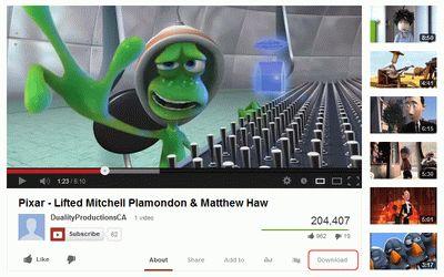 Vídeo Youtube con botón de descarga de Savefrom.net