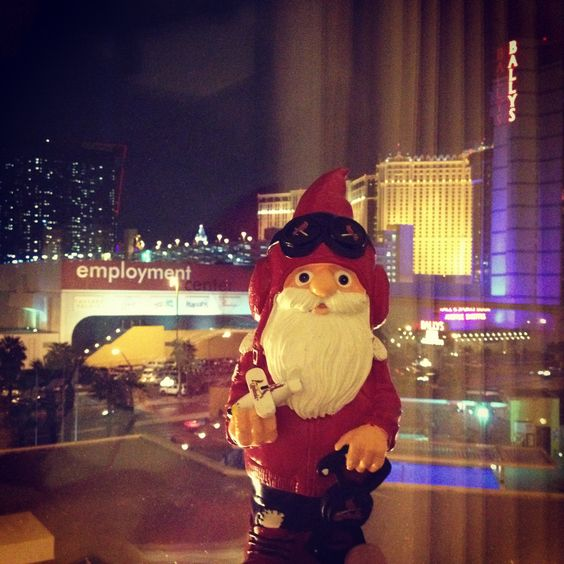 Cardinal Gnome in Sin City