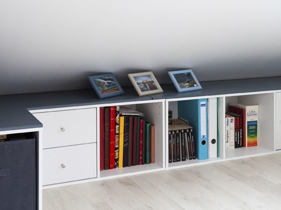Rangement sous pente on optimise un max d co pinterest ps and cases - Rangement sous pente ikea ...