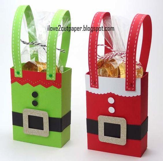 Cajas de elfo y Santa