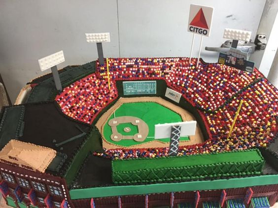 Fenway Stadium  Boston Massachusetts  80 pounds cake replica