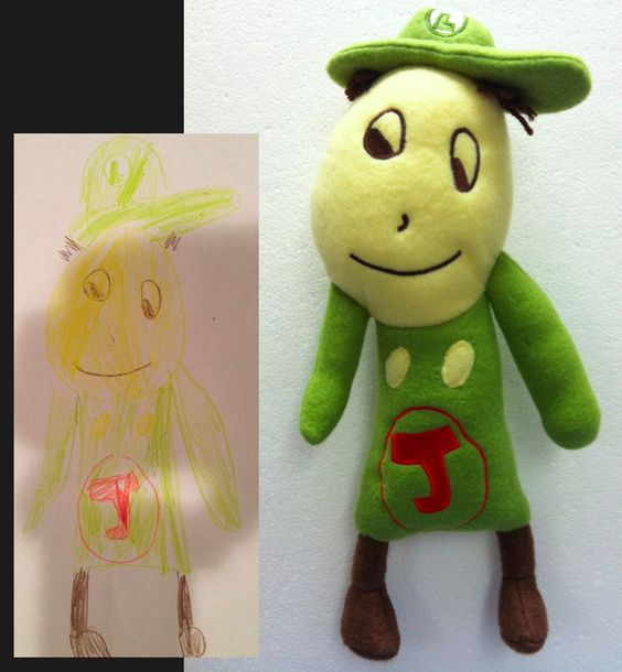 This site turns your child's original artwork into a cuddly toy! =)