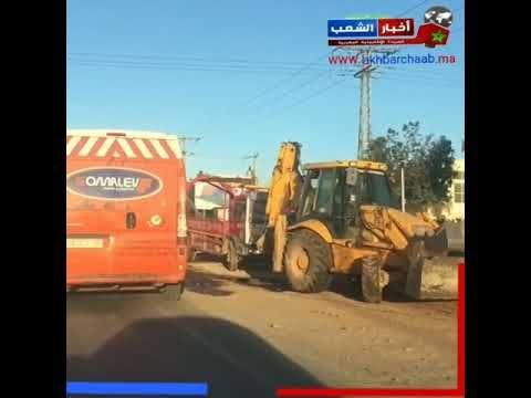 الدارالبيضاء انقلاب شاحنة من الحجم الكبير رموك تحمل الرمال بمنطقة اله Monster Trucks Trucks Vehicles