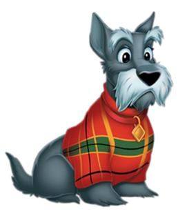 Scottie Dog Cartoon Jock lady and the tramp, lady and dr. who