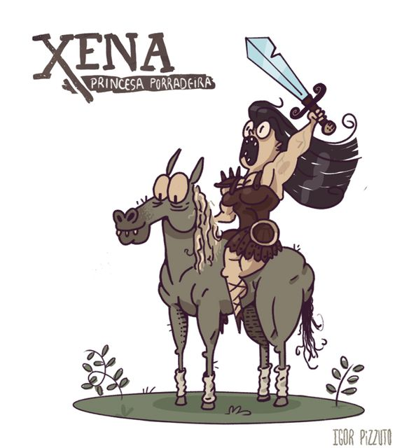 #xena #warrior #princess #porrada #princesa