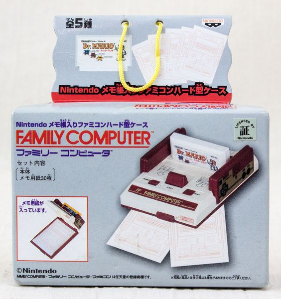 Nintendo NES Famicom Family Computer Type Memo Paper Case Dr. Mario JAPAN