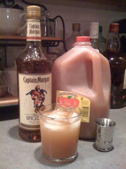 Favorite Holiday Cocktail Captain Morgan's spiced rum and apple cider.