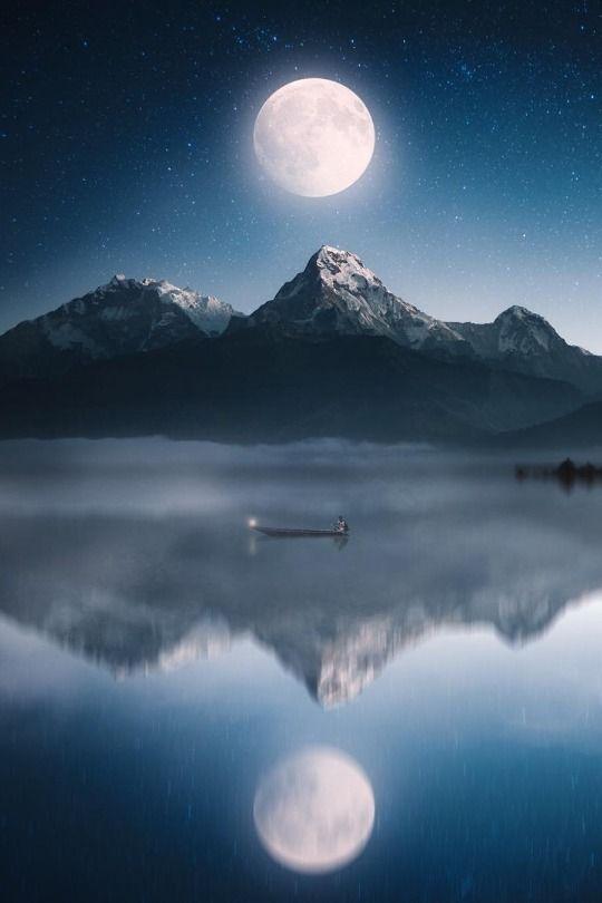Moon River Moon Moonlight Sky Mountains Moon Photography Moonlight Beautiful Moon Sky Landscape