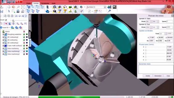 5-axis mold machining - programmed by @COMAC in SprutCAM for HURCO machine
