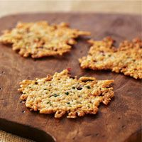 Make your own parmesan chips! Mix parmesan cheese with cayenne pepper, form shredded cheese into flat circles, bake and cool. Perfect for snacking!