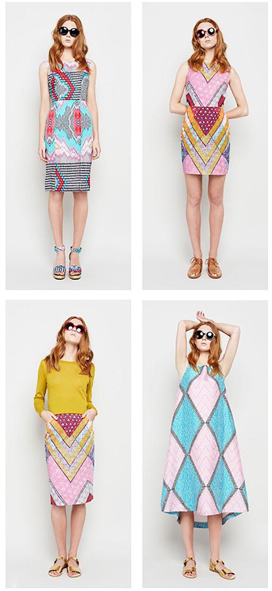 Colorful prints - #fashion from Gorman via @sfgirlbybay