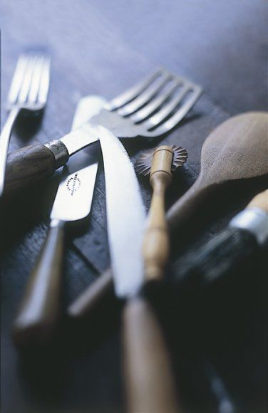 Love the focus on these forks and kitchen utensils (Chris Court)
