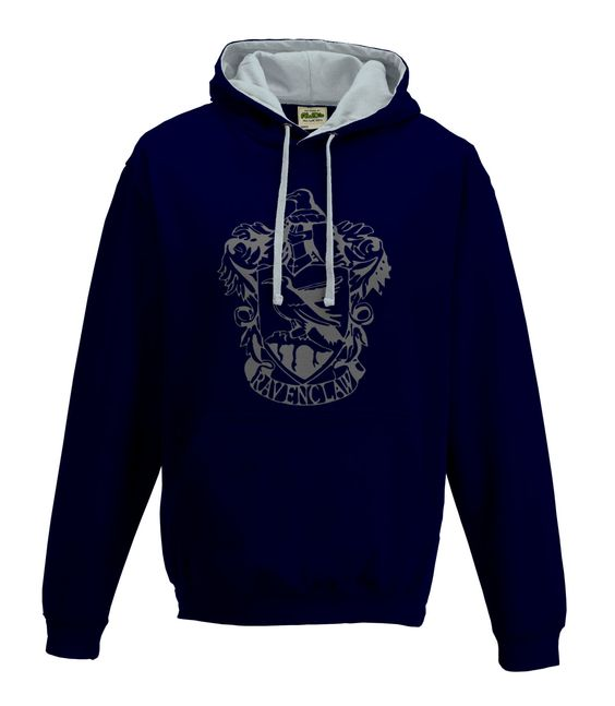 harry potter inspired ravenclaw house hoodie in blue and gray by loveglitzshop on etsy