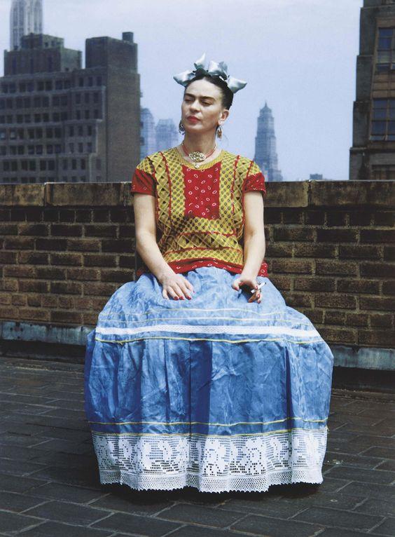 Frida Kahlo in New York    photo by Nickolas Muray, 1946