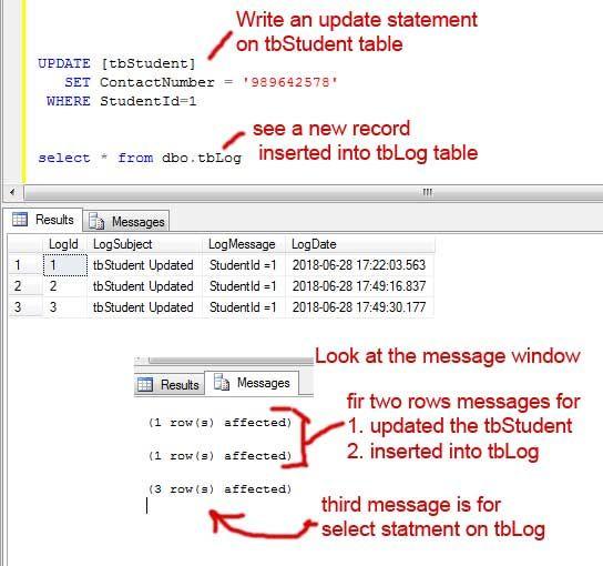 Sql After Update Trigger Example Sql Sql Tutorial Sql Server