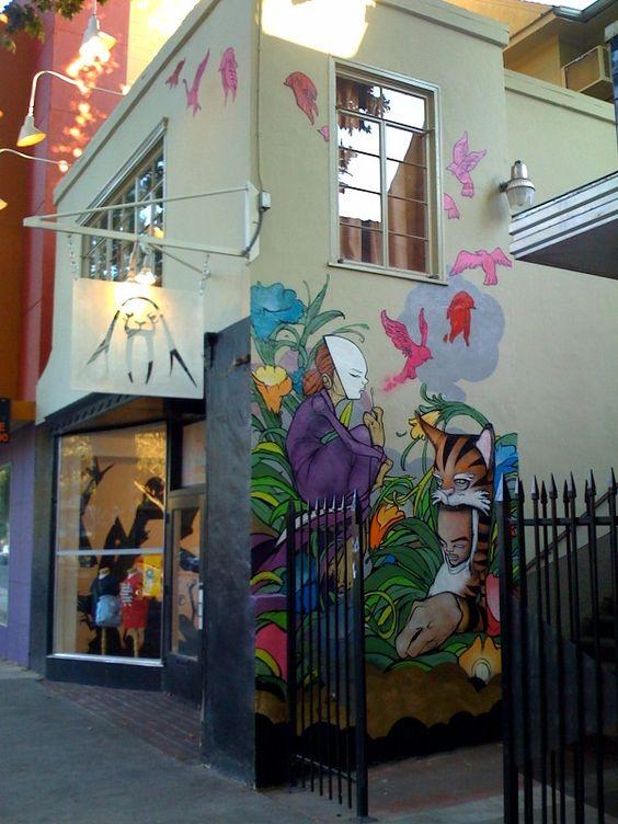 Sam Flores - An Upper Playground Mural in my hometown, Sacramento.