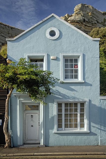 Hastings, East Sussex, England, UK - where we are this weekend for Pirate's Day (21/7/13)...this house is beautiful!