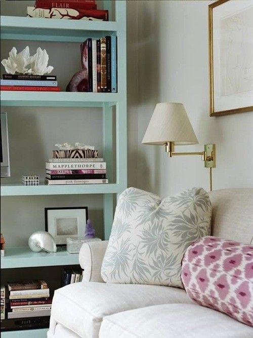 Minty bookshelf