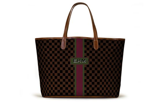 The St. Anne Tote - Fall Monogram Stripe