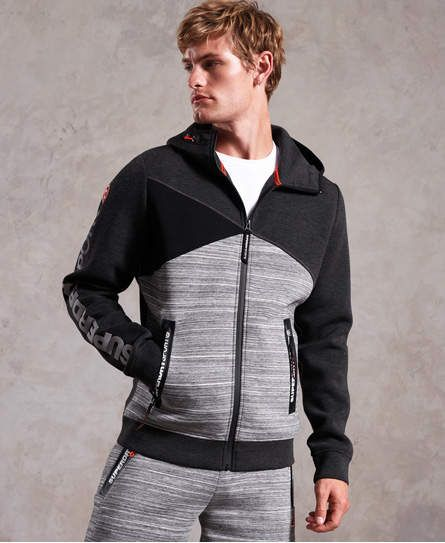 Superdry Gym Tech Spliced Zip Hoodie | Mens gym hoodies