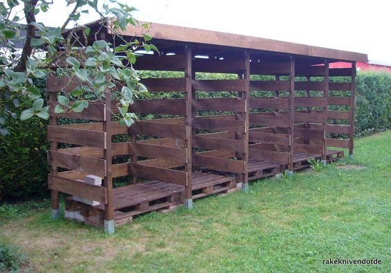 Elegant Einen stabilen Brennholzunterstand Brennholzschuppen gut und g nstig selbst bauen rakeknivens world Garten Pinterest Firewood Firewood storage