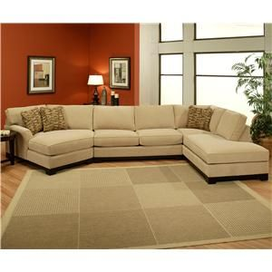 Sagittarius Casual 3 Piece Sectional With Laf Cuddler