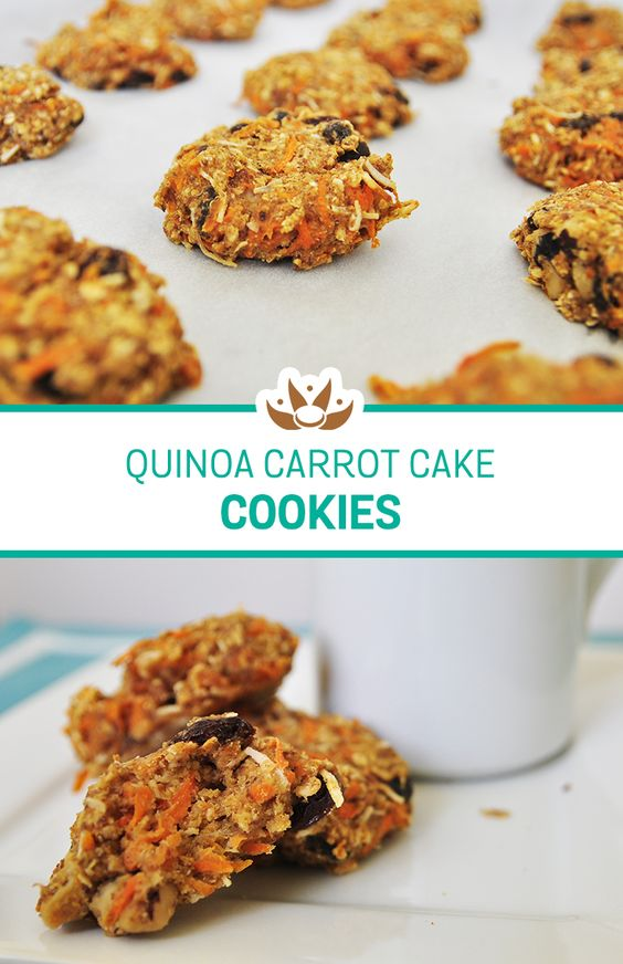Quinoa Carrot Cake Breakfast Cookies – The perfect grab ...