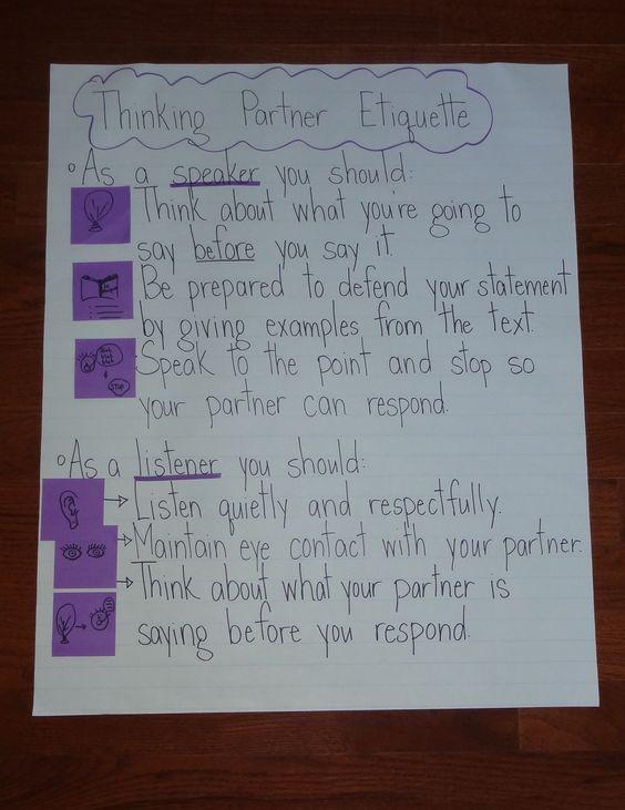 thinking partner etiquette