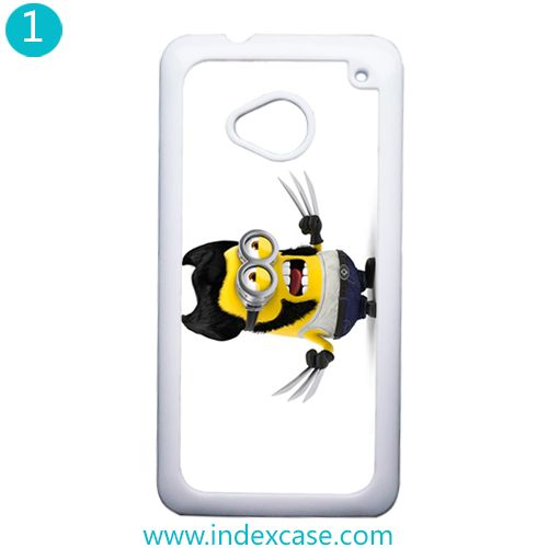 difference Minions with htc one m7 phone case, find it on http://www.indexcase.com.com