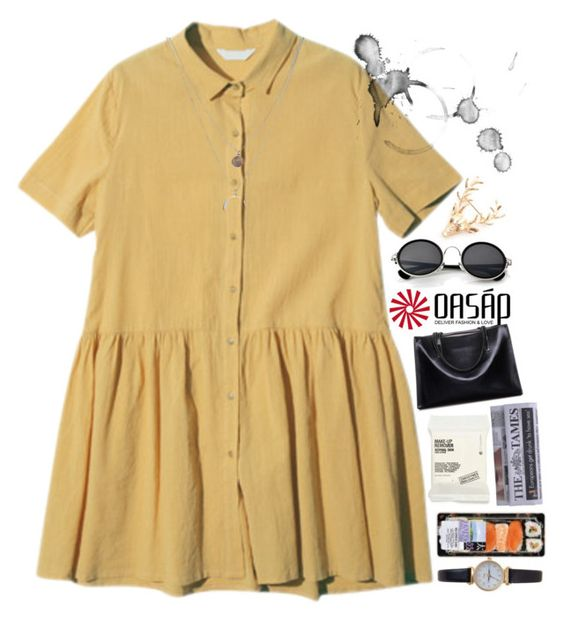 """""""walking on sunshine // oasap #5"""" by vanemarie ❤ liked on Polyvore featuring Kenneth Cole, Retrò, Comodynes, Limit, women's clothing, women, female, woman, misses and juniors"""