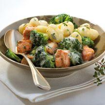Gnocchi mit Kräuter-Lachs-Sauce