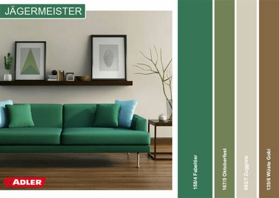 Farben lassen sich in allen Variationen kombinieren, schick, trendig, klassisch.