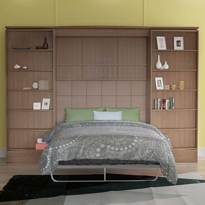 Multimo Queen Storage Murphy Bed Finish: