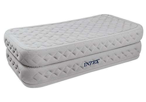 Intex Supreme Air Flow Twin Bed Raised Air Mattress With Built In