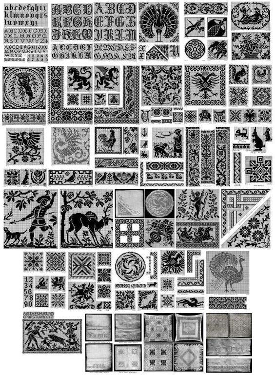 Filet crochet, Vintage and Knitting patterns on Pinterest