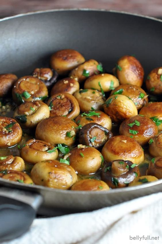 Sauteed Mushrooms with Buttery Garlic Sauce