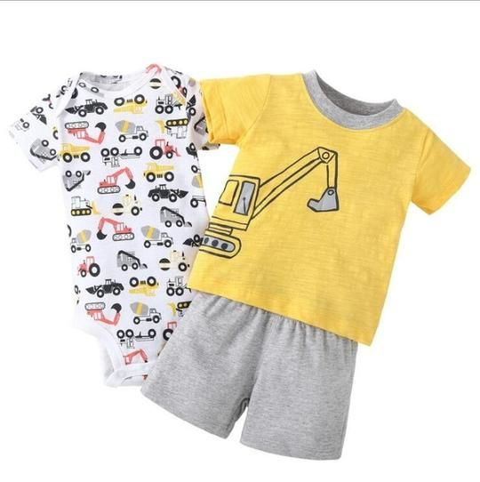Kid Tales Clothing Checker Romper Set