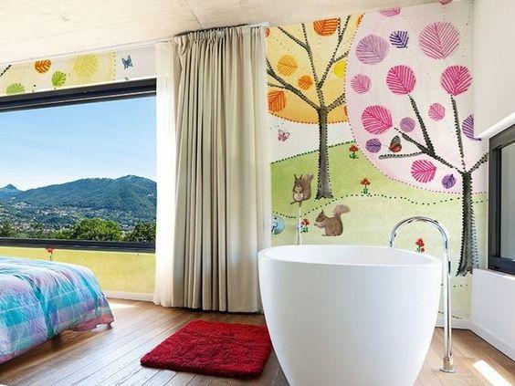 Waschechte Landschaft- Tapete aus Vinyl PAISAJE by GLAMORA Design Silvia Betancourt