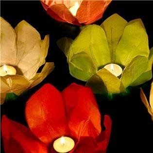 Pack 6 Flores Flotantes con Vela