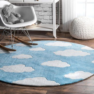 Lily Cloudy Sachiko Hand Tufted Blue Area Rug Rug Size Rectangle 7 6 X 9 6 Area Blue Kids Area Rugs Cool Rugs Blue Area Rugs