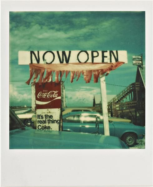 Walker Evans, Untitled ('Now Open'), 1974