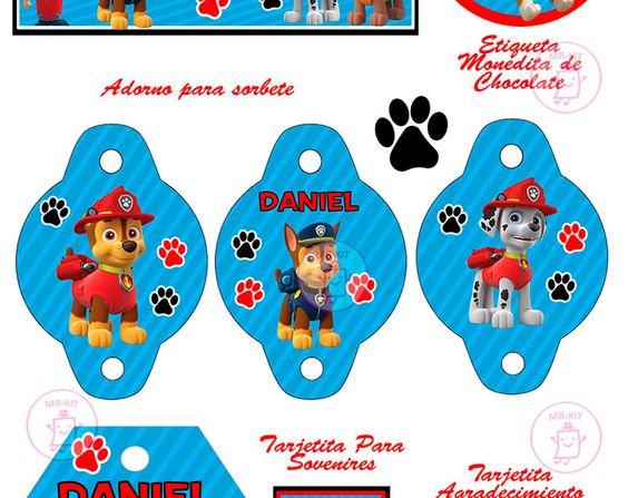 Kit imprimible paw patrol patrulla de cachorros for Decoracion para sorbetes