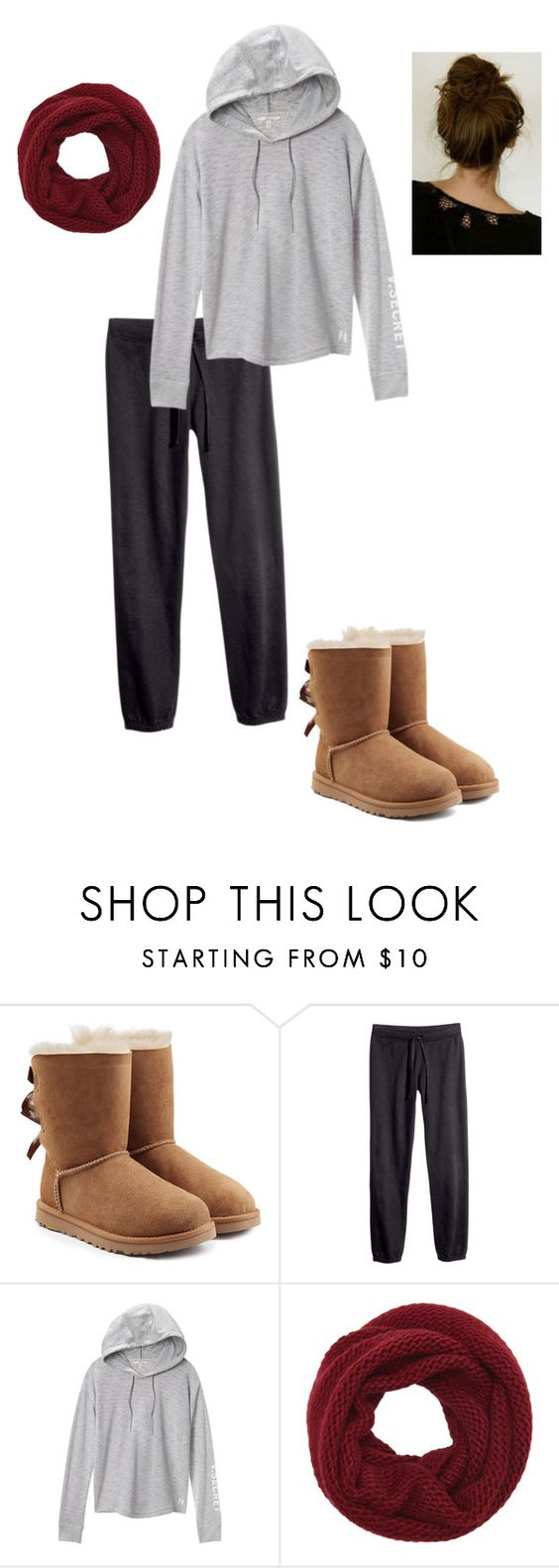 """Untitled #284"" by stockshowgrl on Polyvore featuring UGG, H&M, Victoria's Secret and Wyatt"