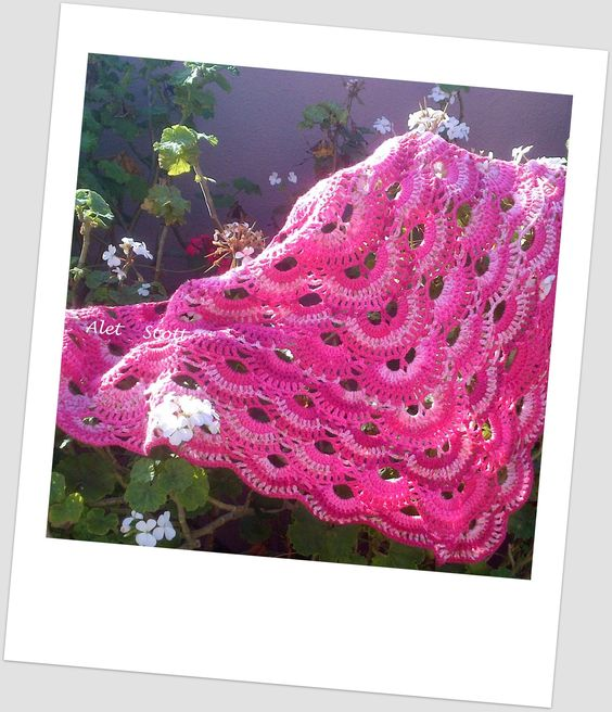 Scalloped Triangle Shawl Crochet Pattern : German Scalloped Triangle Shawl in Elle Escapade ...
