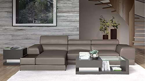The Zuri Furniture Encore Slate Leather Sofa Left Chaise Online Shopping Fayafashionable New Zuri F In 2020 Leather Sofa Living Room Black Leather Sofas Furniture